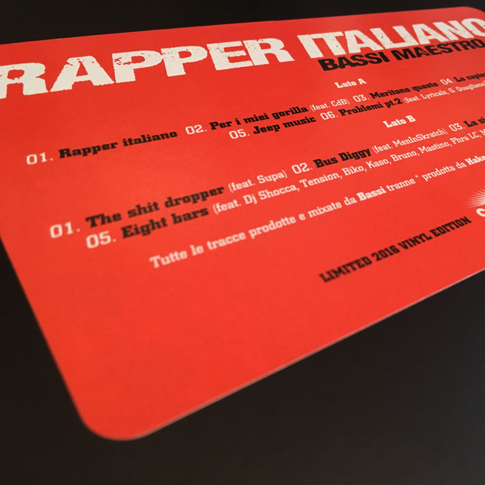 RAPPER ITALIANO in vinile