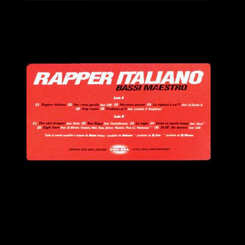Bassi Maestro – RAPPER ITALIANO (LP)